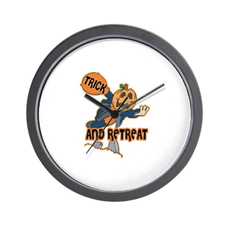 Trick and Retreat Wall Clock