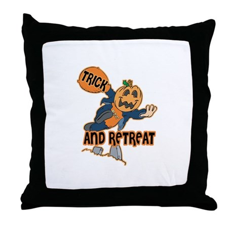 Trick and Retreat Throw Pillow