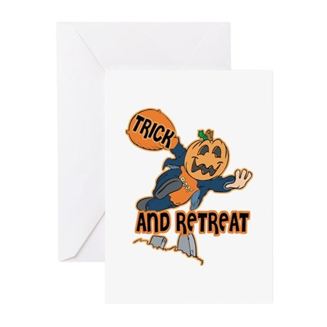 Trick and Retreat Greeting Cards (Pk of 10)