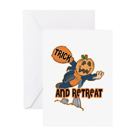 Trick and Retreat Greeting Card