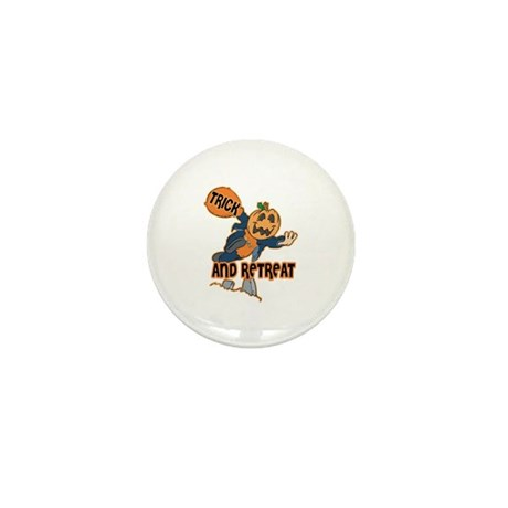 Trick and Retreat Mini Button (10 pack)