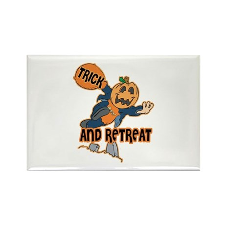 Trick and Retreat Rectangle Magnet (100 pack)