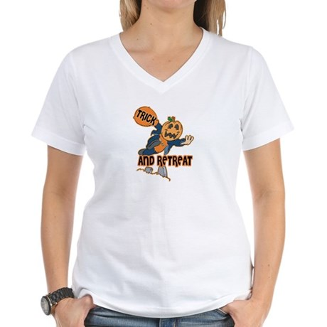 Trick and Retreat Women's V-Neck T-Shirt