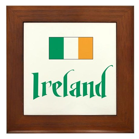 Ireland Flag Framed Tile
