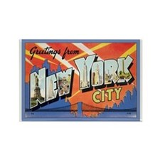 New York City Postcard Rectangle Magnet