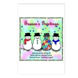 Autism Snowmen Postcards (Package of 8)
