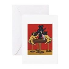 Party Pugs Greeting Cards (Pk of 10)