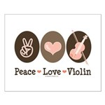 Peace Love Violin Small Poster