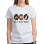 Peace Love Violin Women's T-Shirt