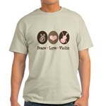 Peace Love Violin Light T-Shirt