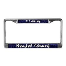 Funky Love Nanday Conure License Plate Frame