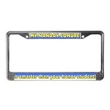 Honor Student Nanday Conure License Plate Frame
