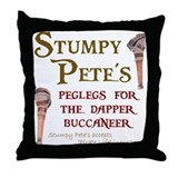 Stumpy Pete's Peglegs Throw Pillow