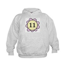 Eleven purple/yellow flower Hoodie