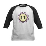 Eleven purple/yellow flower Tee