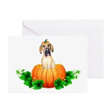 Fawn Pumpkin Dane UC Greeting Cards (Pk of 20)