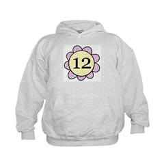 Twelve Years Purple/yellow flower Kids Hoodie