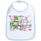 Tourist Map of London, Englan Bib