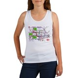 Tourist Map of London, Englan Women's Tank Top