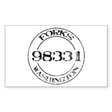 Forks, WA 98331 Rectangle Decal