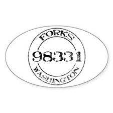 Forks, WA 98331 Oval Decal