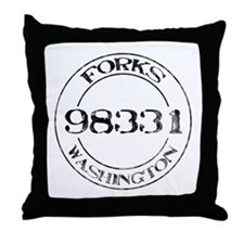 Forks, WA 98331 Throw Pillow