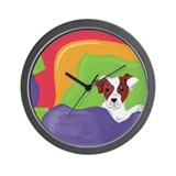 Rise and Shine Brown Jack Russell Terrier Wall Clo