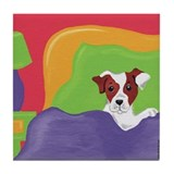 Rise and Shine Brown Jack Russell Terrier Tile Coa