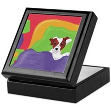 Rise and Shine Brown Jack Russell Terrier Tile Box