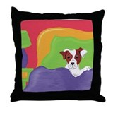 Rise and Shine Brown Jack Russell Terrier Throw Pi