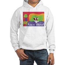 Rise and Shine Brown Jack Russell Terrier Hoodie