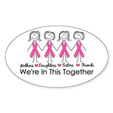 We're In This Together Oval Bumper Stickers
