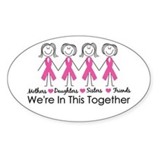 We're In This Together Oval Decal
