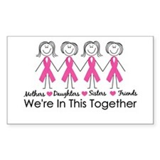 We're In This Together Rectangle Bumper Stickers