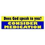 MEDICATION Bumper Bumper Sticker