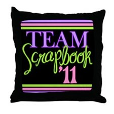 Team Scrapbook '11 Throw Pillow