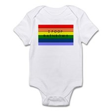 I POOP RAINBOWS Infant Bodysuit