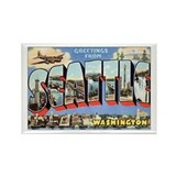 Seattle Postcard Rectangle Magnet