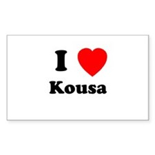 I Heart Kousa Rectangle Decal