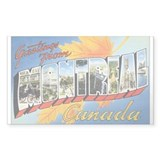 Montreal Postcard Rectangle Decal