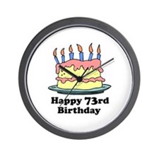 Happy 73rd Birthday Wall Clock