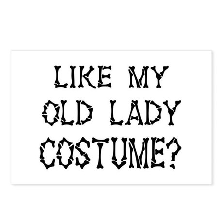 Old Lady Costume Postcards (Package of 8)