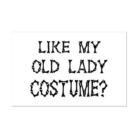 Old Lady Costume Mini Poster Print