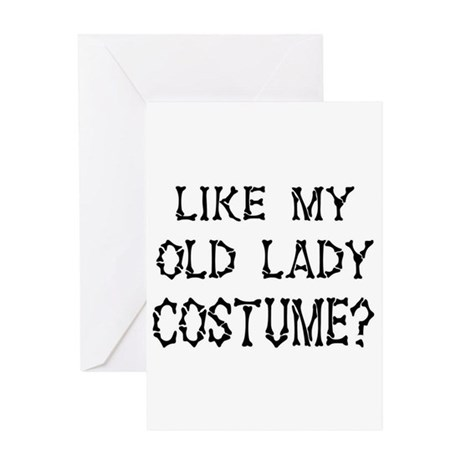 Old Lady Costume Greeting Card