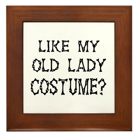Old Lady Costume Framed Tile