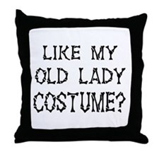 Old Lady Costume Throw Pillow