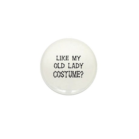 Old Lady Costume Mini Button