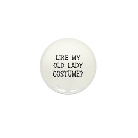 Old Lady Costume Mini Button (100 pack)