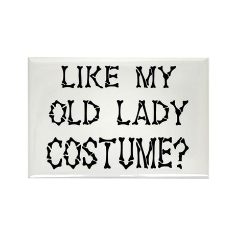 Old Lady Costume Rectangle Magnet (10 pack)