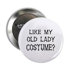 "Old Lady Costume 2.25"" Button (10 pack)"